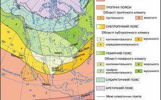 Климатические пояса северной америки: карта и таблица климатических зон