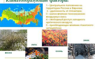 Климатообразующие факторы россии | основные главные климатообразующие факторы