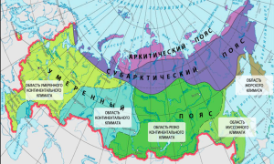 Климатические зоны и пояса россии – карта зон, расположение, таблицы
