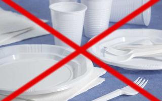 Запрет одноразовой посуды