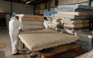 Утилизация старого кроватного матраса