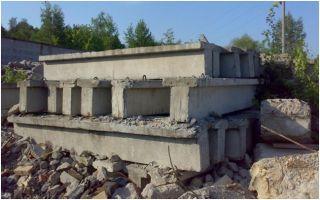 Получение вторсырья из отходов бетона и железобетонных изделий
